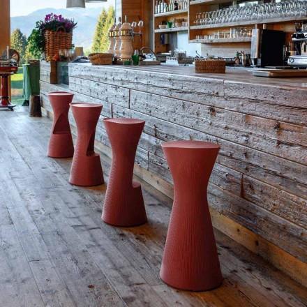 Hoher Gartenhocker aus farbigem Polyethylen Made in Italy - Desmond