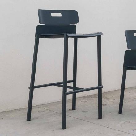 High Design Hocker für den Außenbereich aus Aluminium Made in Italy - Dobla