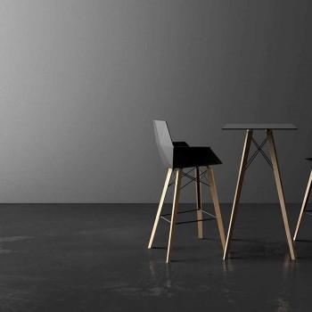 Barhocker mit Armlehnen aus Holz und Kunststoff Verschiedene Farben - Faz Wood von Vondom