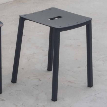 Moderner stapelbarer Outdoor-Hocker aus Aluminium Made in Italy - Dobla