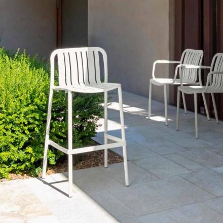 moderner Gartenhocker klappbar  Talenti Trocadero aus Alluminium