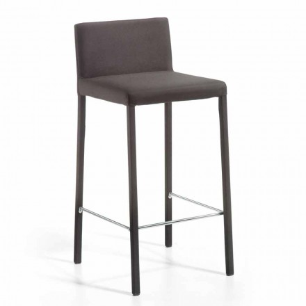 Moderner Design Hocker mit Rücken H. 86 cm Alwyn, made in Italy
