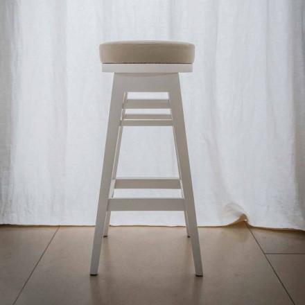 Designhocker aus lackiertem Buchenholz H 78 cm, Harvey