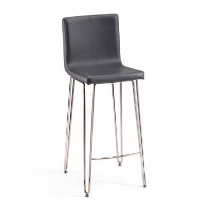 Moderner Design Hocker mit hoher Rückenlehne Calo, H. 97 cm, made in Italy