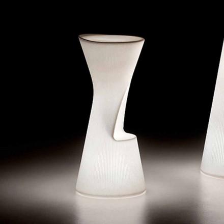 Leuchtender Außenhocker aus Polyethylen mit LED Made in Italy - Desmond