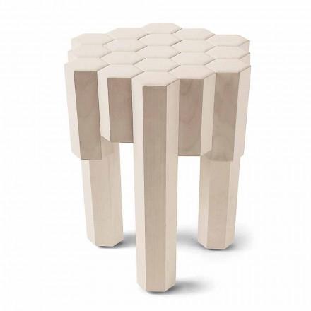 Hocker/Tischchen aus Massivoholz, Design, 38x38 cm, Begga
