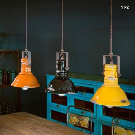Lampe im Industrial Design aus Keramik und Metall Ruth