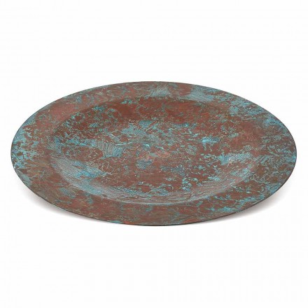 Handverzinntes Tischset aus grünem oder braunem Kupfer 31 cm 6 Stück - Rocho