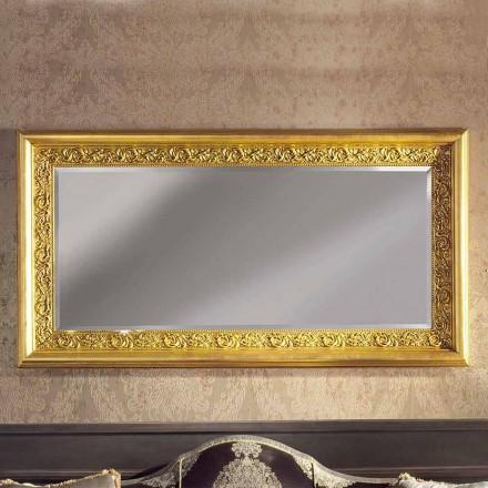 Moderner handgemachter Ayous Holz Wandspiegel hergestellt in Italien Enrico