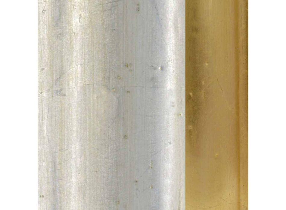 Wandspiegel aus Fichtenholz, handgefertigter Kunstharzfries von Elia