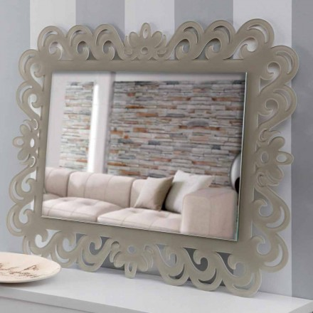 Rechteckiger rechteckiger Wandspiegel aus modernem Plexiglas Tortora - Selly