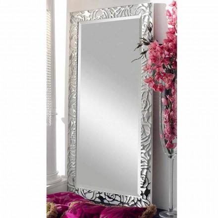 Holzwandspiegel in modernem Design, hergestellt in Italien, Augusto