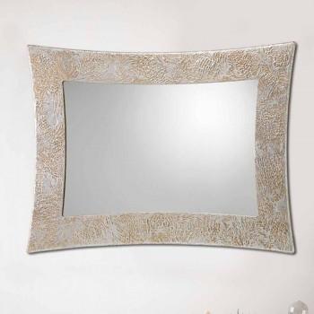 Wandspiegel aus Resin und venezianischem Silberblatt