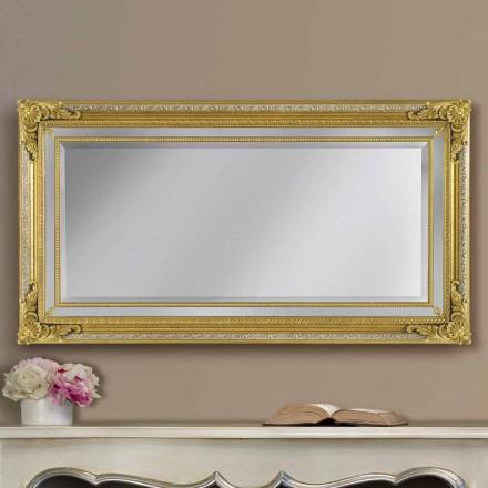 Moderner handgemachter Ayous Holz Wandspiegel, hergestellt in Italien, Carlo