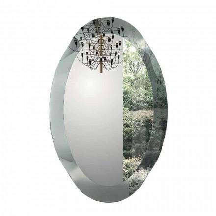 Ovaler Wandspiegel aus kristallklarem Glas Made in Italy - Eclisse