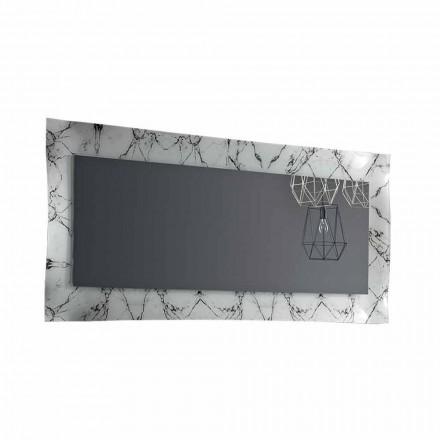 Rechteckiger Designspiegel mit Glasrahmen Made in Italy - Eclisse