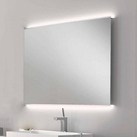 Badezimmerspiegel mit modernem Design LED-Licht mit Satinkanten Veva