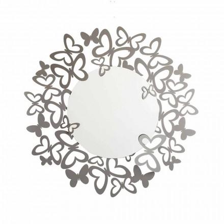 Runder Wandspiegel in modernem Design aus Eisen Made in Italy - Stelio