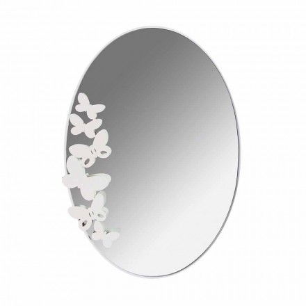Ovaler Wandspiegel aus Eisen im modernen Design Made in Italy - Butter