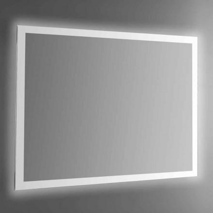 Hintergrundbeleuchteter Wandspiegel mit sandgestrahltem Rahmen Made in Italy - Edigio