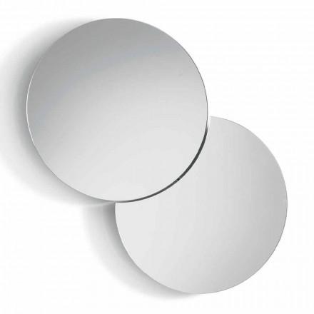 Runder Wandspiegel mit Satellit, der sich um volle 360 ° schwenkt Made in Italy - Shaki