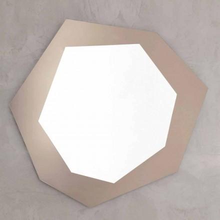 Geformter Wandspiegel mit Glasrahmen Made in Italy - Chlor
