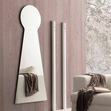 Geformter Wandspiegel mit Melaminplatte Made in Italy - Bromo