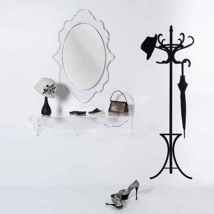 Joy transparenter Design-Wandspiegel, made in Italy