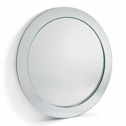 Moderner runder freistehender Spiegel mit geneigtem Rahmen Made in Italy - Salamina