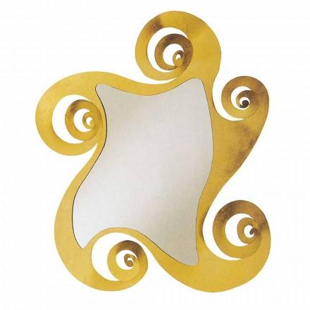 Moderner Design Wandspiegel in Eisenform. Hergestellt in Italien - Pazifik