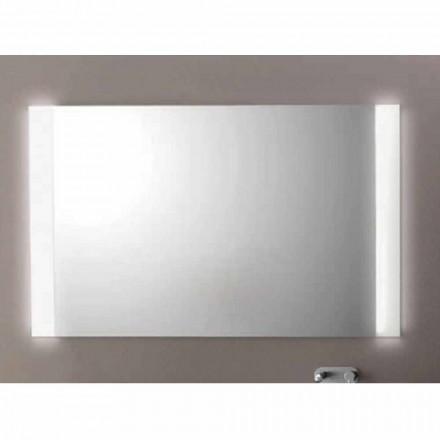 Moderner Badezimmerspiegel mit LED-Leuchten, L1200xh.900 mm, Achat