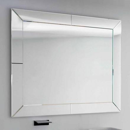 Wulstiger Spiegel mit moderner Grundkante, H120 x L120cm, Dedalo