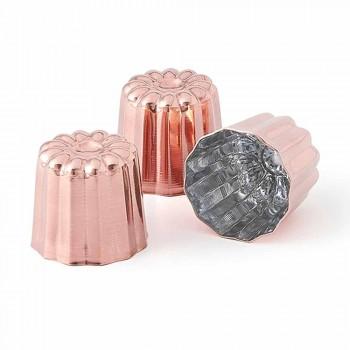 6 Stück handverzinnte Kupfer-Kuchenformen aus Kupfer - Gianvito