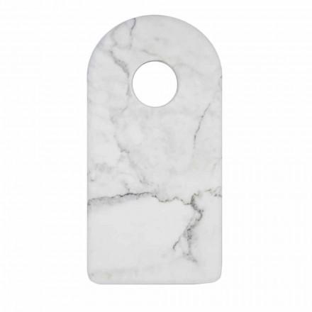 Modernes weißes Carrara Marmor Design Schneidebrett Made in Italy - Amros