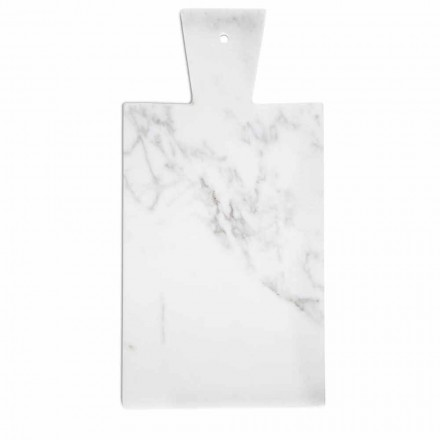 Modernes Schneidebrett aus weißem Carrara-Marmor Made in Italy - Biblon