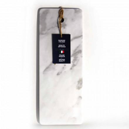 Rechteckiges Schneidebrett aus weißem Carrara-Marmor Made in Italy - Masha