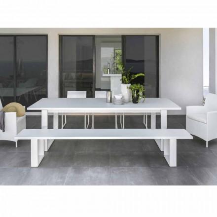 Talenti Essence Gartenbank aus weißem Aluminium hergestellt in Italien