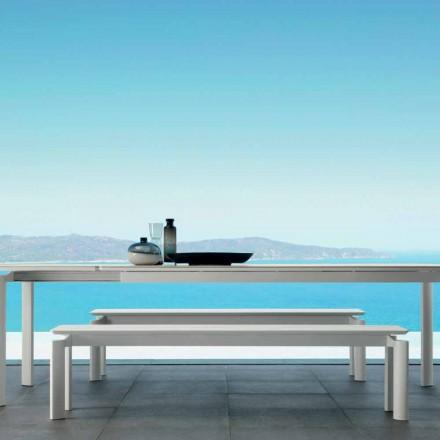 Talenti Milo Gartenbank aus Aluminium modernem Design made in Italy