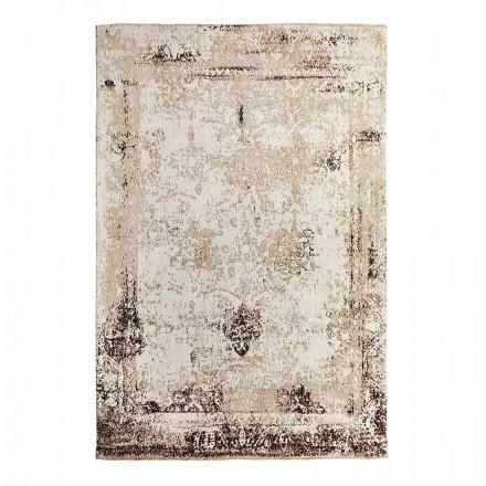 Vintage Design Wohnzimmer Teppich aus Polyester und Baumwolle - Hola