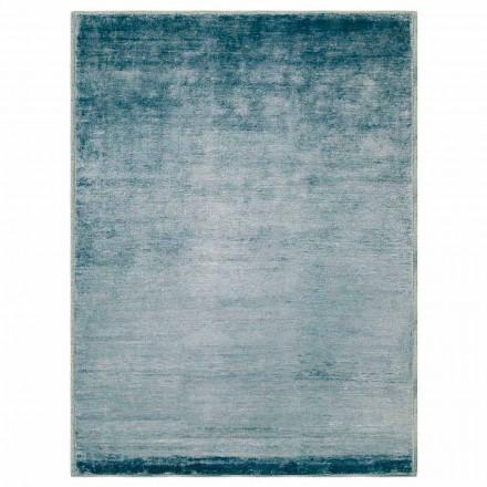 Farbiger und moderner Designteppich aus Baumwolle und Seide 2 Dimensionen - Zefiro