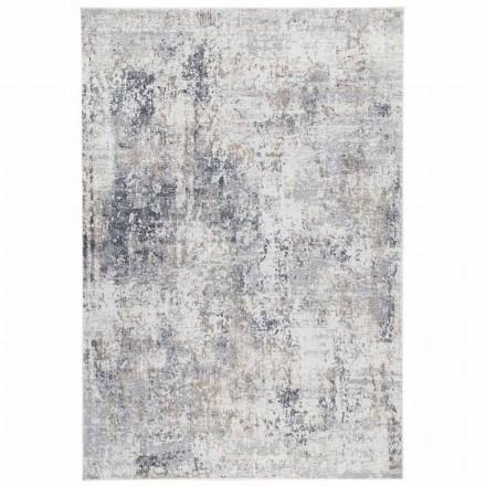 Design Beige Teppich mit Zeichnung in Viskose und Polyester - Okzitanien