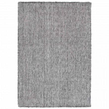 Großer Teppich mit modernem Design aus schwarzer oder cremefarbener Wolle - Jacqueline