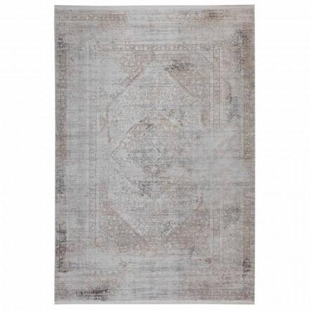 Rutschfester Teppich in Grau-Beige-Akrilic und Viskose mit Zeichnung - Präsident