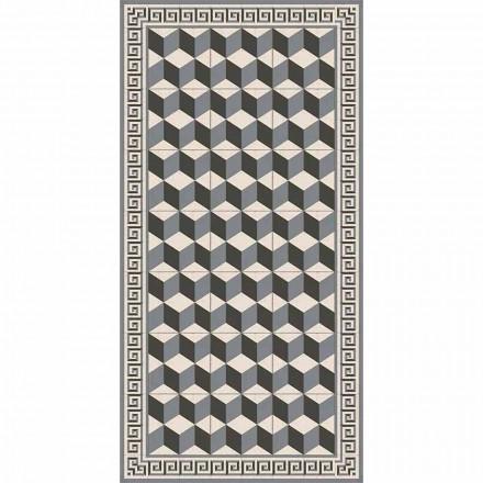 Moderner Wohnzimmerteppich aus PVC und Polyester mit geometrischem Muster - Romio