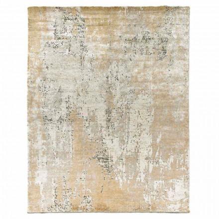 Modernes Design Eleganter Teppich für Wohnzimmer in Bambusseide und Wolle - Pascha