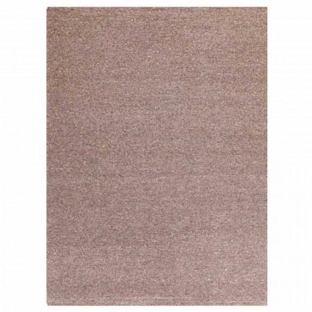 Rechteckiger Teppich aus modernem Design aus Seide und brauner oder cremefarbener Baumwolle - Kuta