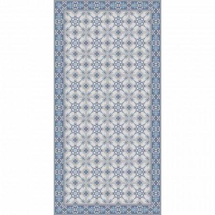 Design Wohnzimmer Teppich in PVC und Polyester Rechteck gemustert - Chico