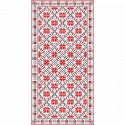 Design Wohnzimmer Teppich in rechteckigen Vinyl-Muster - Petunia