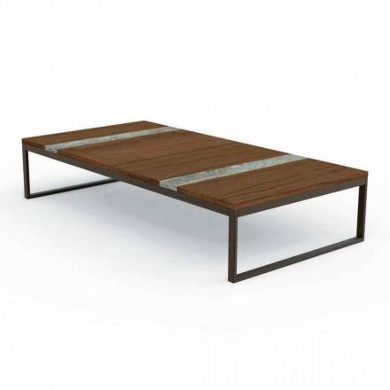 Beistelltisch für den Garten in modernem Design 70 x 140 cm Casilda