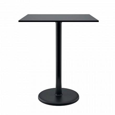 Tisch im Freien aus Gusseisenmetall und HPL Made in Italy - Burton